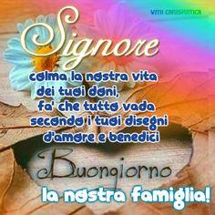 Condividi in WhatsApp Maria Grazia, My Prayer, Good Morning, Prayers, Calcutta, Luigi, Madonna, Religious Pictures, Sink Tops