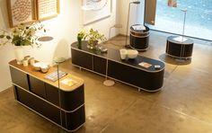 Wogg Ausstellung; zur Zeit bei Wohnidee in Luzern- Sideboard Wogg 44 und Wogg 18 plus Wogg 17