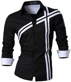 jeansian Herren Freizeit Hemden Shirt Tops Mode Langarmshirts Slim Fit MFN_Z006 Black S [Apparel] Jeansian http://www.amazon.de/dp/B01A8G66TO/ref=cm_sw_r_pi_dp_dGFJwb12MR5GX