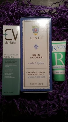 Lots To Live For - Radiation Burn Relief Kit, $92.49 (http://www.lotstolivefor.com/radiation-burn-relief-kit/)The best products for Radiation Burn Relief. Lindiskin Cooler Roll, RADX radiation therapy, and CV Skinlabs Rescue & Relief Cooling Spray. Reduces burn pain, helps skin heal. Amazing relief!