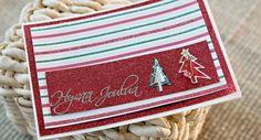 Glitterkimalteinen joulukortti