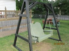 Ski lift chair swing using an old double chair frame from a local ski area i was able to build - Wooden garden swing seat plans perfect tranquility ...