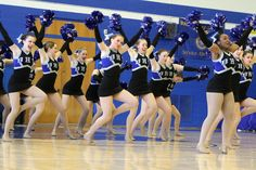 Members of the Braintree High School Dance Team compete in the Pom Division during the New England Interscholastic Dance Championships at Braintree High School in Brantree on Sat., March 5, 2016.