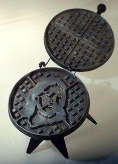 jesus waffle iron