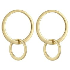 Laundry By Shelli Segal  Front Face Orbit Earrings (619.335 IDR) ❤ liked on Polyvore featuring jewelry, earrings, gold, laundry by shelli segal and earring jewelry