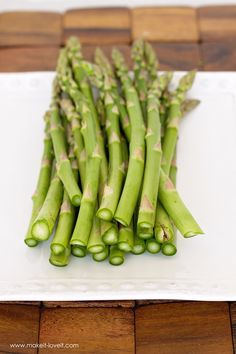 how to clean asparagus tips