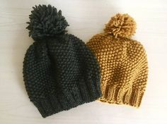This hand made hat is made out of 100% wool. The color is yellow and its knit in a chunky pattern. This will keep your head perfectly warm in autumn or winter. This hat is made for either a man or woman. This hat is a perfect gift for a loved one, or as a gift to yourself! The hat is