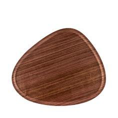 Bricka, Viventium valnöt, 44x37 cm