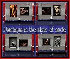 HelleN sims3 : Paintings in the style of nude.