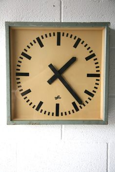 square industrial wall clock by elfema