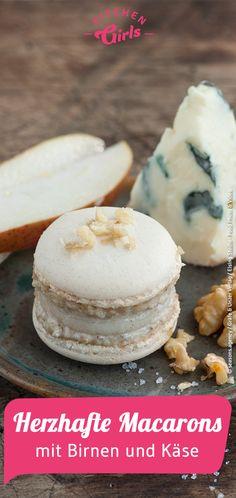 Rezept: herzhafte Macarons mit Birnen und Käse
