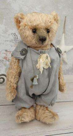 Amberli One Of a Kind Mohair Artist Teddy Bear by aerlinnbears
