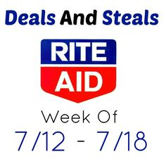 Learn to shop for free/cheap this week at Rite Aid. Deals this week include moneymaker Crest, Colgate, free Suave, cheap snacks, Nair, and more.