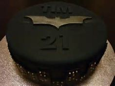Sugar And Spice And Everything Iced Dark Knight Birthday Cake - Dark knight birthday cake