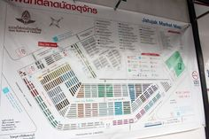 Map of Chatuchak Market, Bangkok