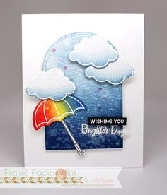 Love how the umbrella lights up this handmade card