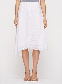 Eileen Fisher - handkerchief linen skirt
