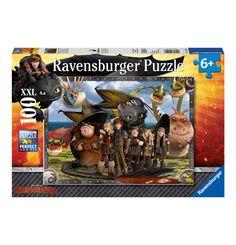 Ravensburger Puzzle Dragons Ohnezahn und seine Freunde 100 Teile