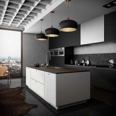 36 красивых темных кухонь