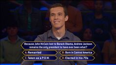"Today, it's #NewYearsEve, and Brian Davis gets political on this final show of 2015. Now, Brian would like nothing more than to end his game with big money. Don't miss Thursday's ""Millionaire"" with host Chris Harrison and see what happens. Go to www.millionairetv.com for time and channel to watch."
