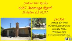 If you're interested in this home, call Joshua Tree Realty today at (760)366-7600! www.joshuatreerealty.info