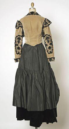 House of Balenciaga Evening ensemble, French, 1946-47, silk, cotton, jet