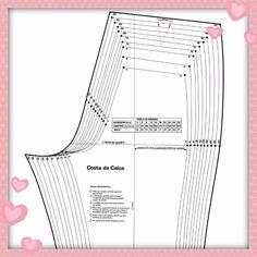 kit moldes gabarito de roupas - moda social 16 peças