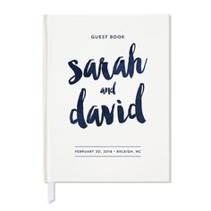 Customizable wedding guest book. Comes in your wording and choice of colors.