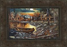 High Country Retreat Framed Painting Print