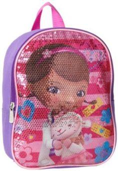 Amazon.com: Disney Girls 2-6X Doc Mcstuffins 10 Inch Sequin Backpack, Purple, One Size: Clothing