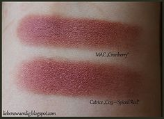 #MAC #Dupes #Catrice MAC Cranberry vs. Catrice (LE)