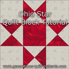 Learn to make an Ohio Star quilt block. Instructions in five sizes.