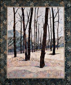 """Winter's Approach, 36"""" x 44"""" by Sue Rasmussen"""