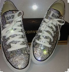7bfc7896cd5c All star dainty converse covered with diamonds shop the full range    www.crystalsbynicole.