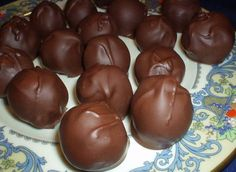 My Famous Chocolate Covered Cherries Recipe - Food.com Chocolate Covered Cherries, Chocolate Cherry, Homemade Chocolate, Covered Strawberries, Chocolate Dipped, Chocolate Truffles, Christmas Candy, Christmas Goodies, Christmas Baking