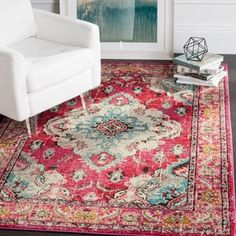 Safavieh Monaco Amelia Boho Medallion Rug (Pink/Multi - Medallion/Oriental - Indoor - Contains Latex - Dining Room/Bedroom/Living Room - Shabby Chic/ My Living Room, Living Room Decor, Ideas 2017, Design Apartment, Studio Apartment, Apartment Ideas, Classic Rugs, Modern Classic, Timeless Classic