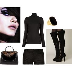 Black on Black on Black, created by wendy-lady on Polyvore