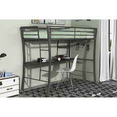 Viv + Rae Dixie Twin Loft Bed with Desk