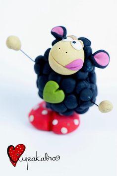 Black sheep fimo sculpey polymer clay