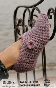 Easy Crochet Garn Slippers [Free Pattern]