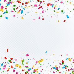 Free Confetti Background With Space  #freebies Paint Splash Background, Mother's Day Background, Confetti Background, Birthday Background, Wedding Background, Gift Vector, Serpentina, Floral Pattern Vector, Celebration Background