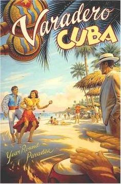 Cuban poster. Large size 38 X 26 inches