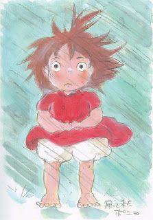 Hayao Miyazaki, Studio Ghibli, Gake no Ue no Ponyo, The Art of - Ponyo, Ponyo Studio Ghibli Art, Studio Ghibli Movies, Totoro, Animation, Fan Art, Hayao Miyazaki, Illustrations, Anime, Pixar