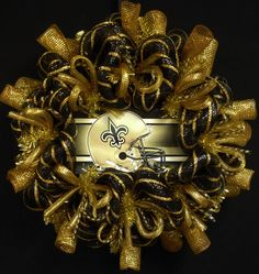 New Orleans Saints Wreath Poly Mesh Wreath by wreathsbyrobin, $67.50 New Saints, New Orleans Saints, Saints Wreath, Vine Wreath, Door Wreath, Sports Wreaths, Football Wreath, Deco Mesh Wreaths, Holiday Wreaths