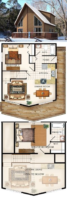 Beaver Homes & Cottages Siloquette II :: 958 sq. ft.