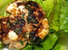 Chop the onion and garlic into small pieces then mix with rest of the ingredients in a large bowl. Form into burger patties and leave in fridge for 30 mins. Grill to your liking and serve on large romaine leaves.