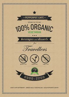 Pepperpot Cafe's poster on Behance