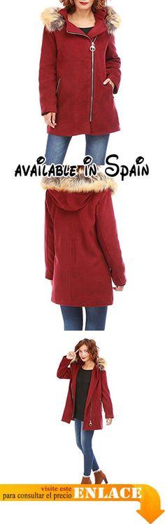 B076XX9W9Z : La Modeuse - Abrigo - para mujer rojo X-Large .