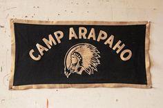 Vintage Camp Flag Camp Arapaho Native Chief