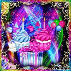 Happy Birthday Cupcakes, Happy Birthday Candles, Happy Birthday Pictures, Happy Birthday Greetings, Birthday Qoutes, Birthday Wishes, Gif Photo, Tumblr Image, Gif Pictures
